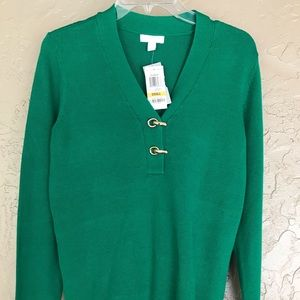 Charter Club Bright Green Sweater Christmas Small